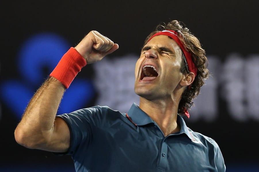 Federer fist pump