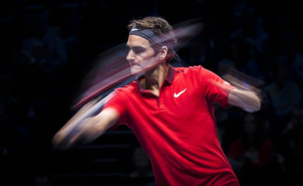 Federer slow mo