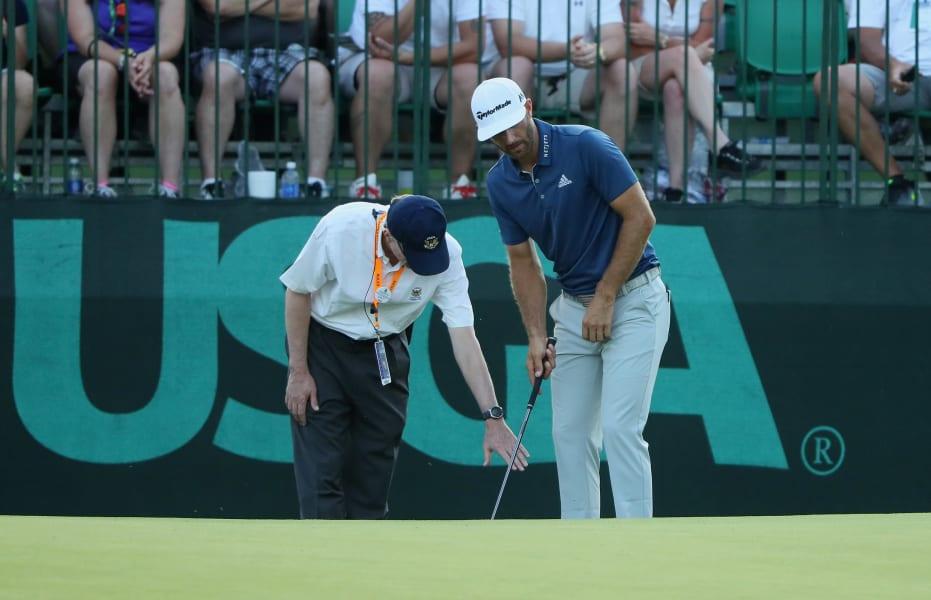 Dustin Johnson US Open putting green