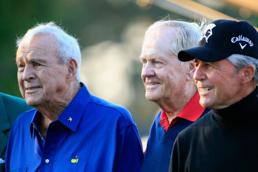 Jack Nicklaus Arnold Palmer Gary Player Masters Augusta