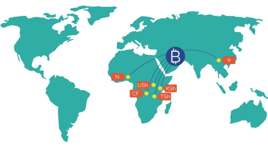bitpesa payments map