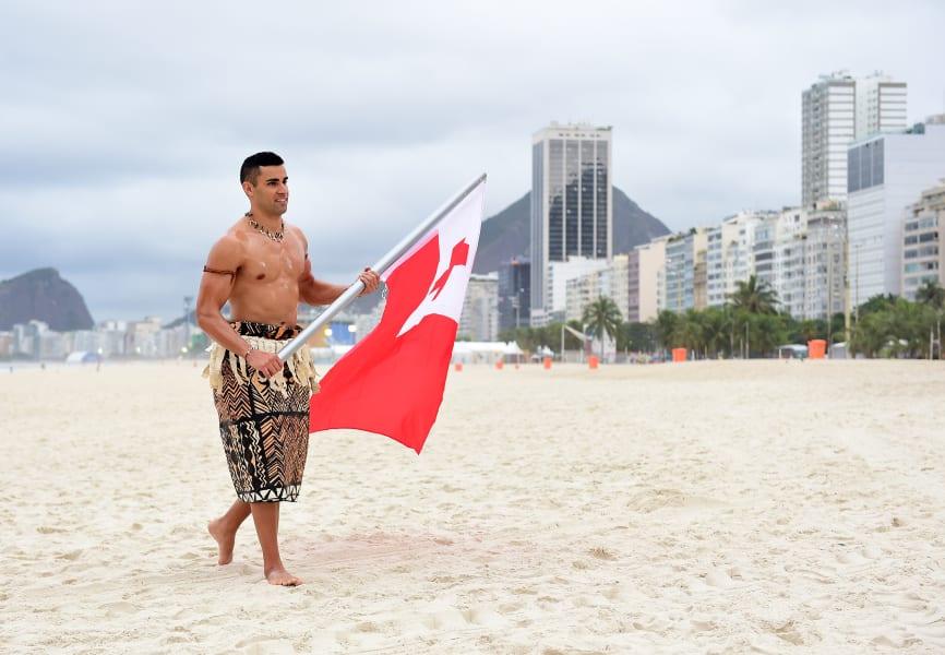 pita taufatofua beach flag