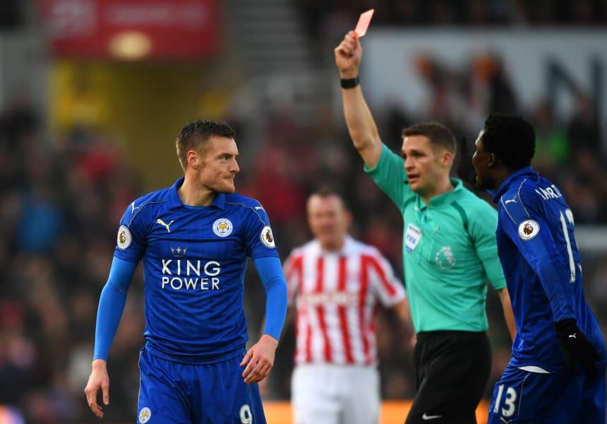 jamie vardy red card