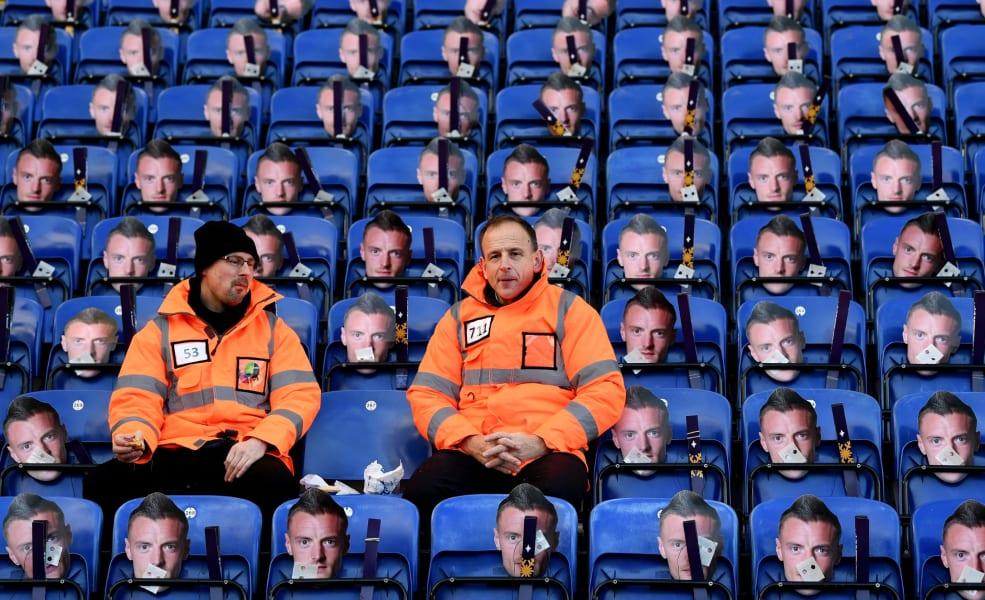 vardy masks ground staff