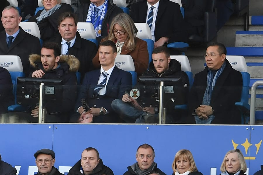 vardy in stands