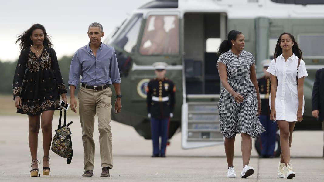 17 Sasha and Malia Obama FILE