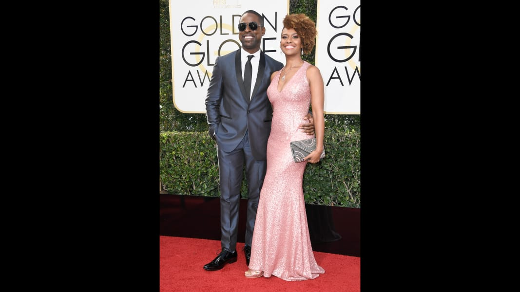 golden globes 2017 - Sterling K. Brown and Ryan Michelle Bathe