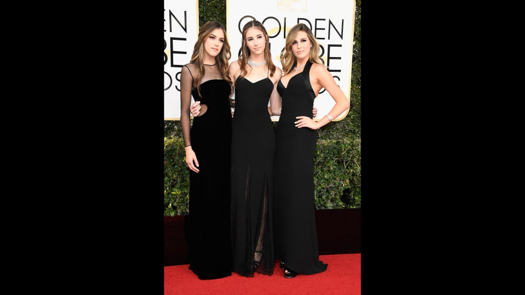 golden globes 2017 - Stallone sisters