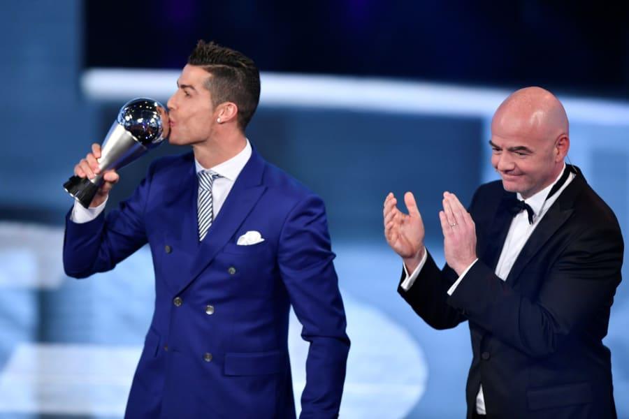 cristiano ronaldo fifa awards trophy