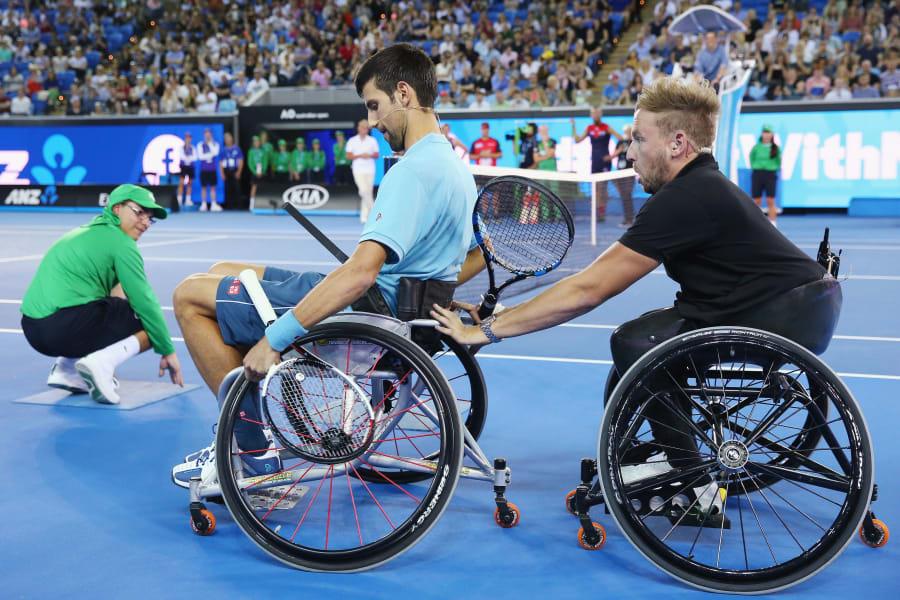 djokovic wheelchair tennis dylan alcott