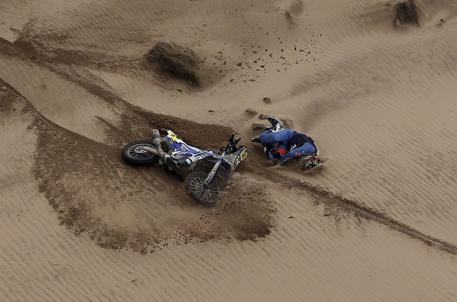 Dakar Rally injury