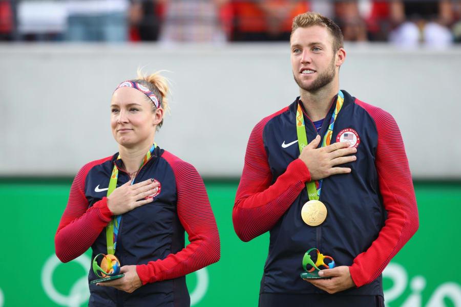 Jack Sock Bethanie Mattek-Sands mixed doubles gold medals olympics rio 2016