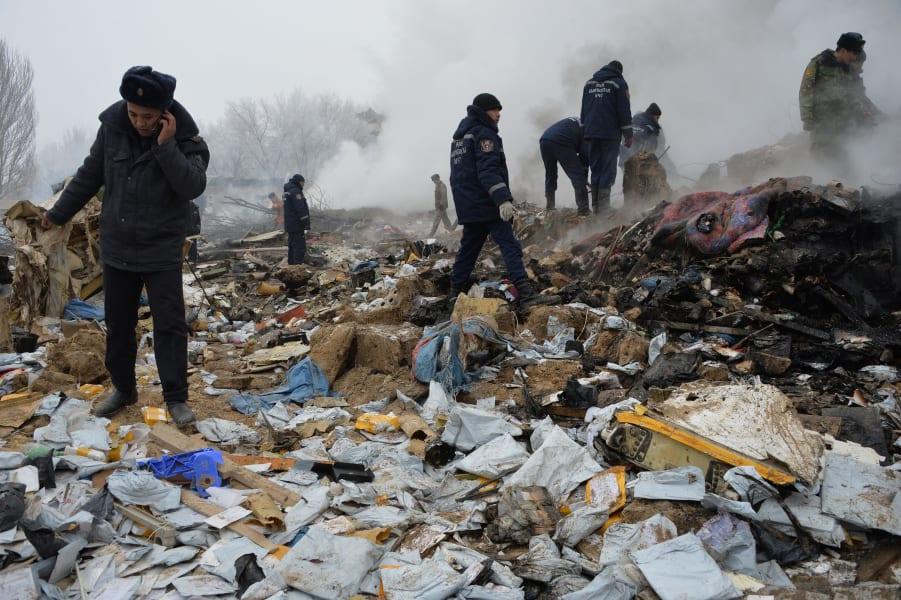 13 Kyrgystan plane crash 0116