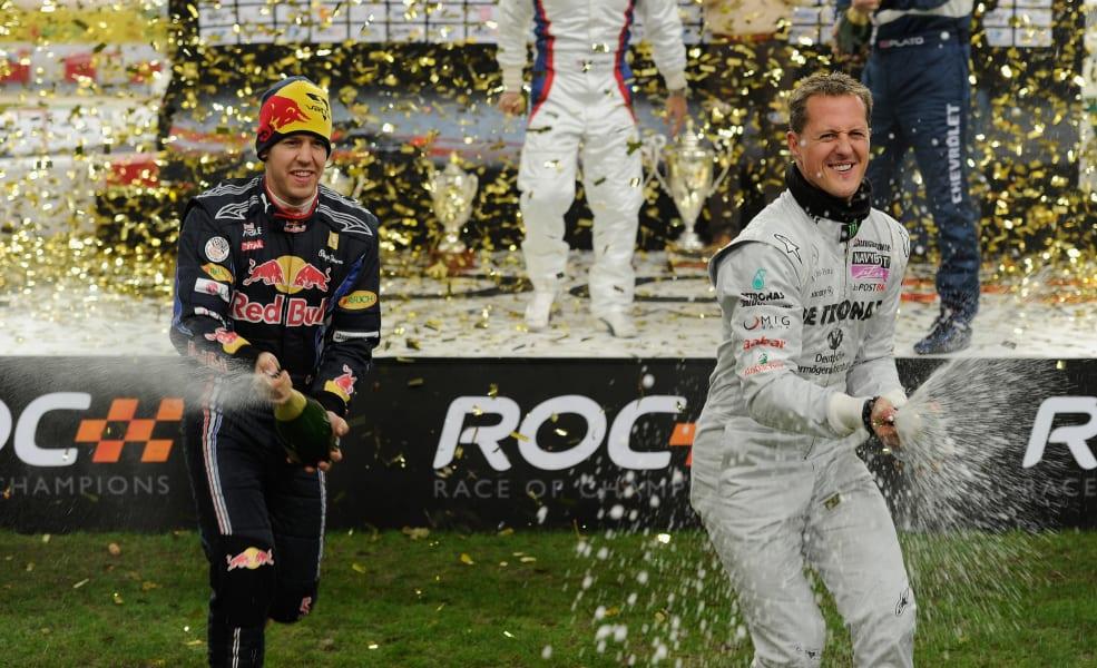ROC Schumacher and Vettel