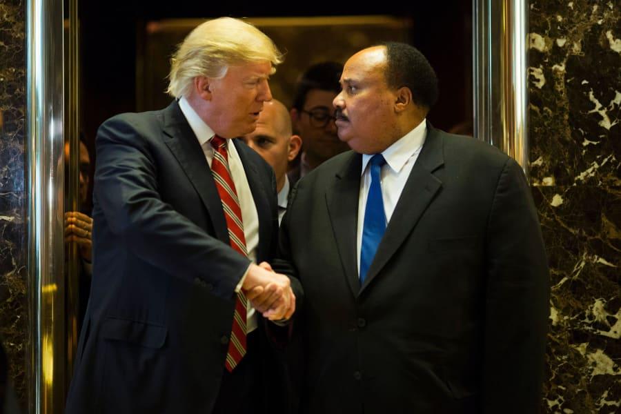 01 Martin Luther King III Donal Trump
