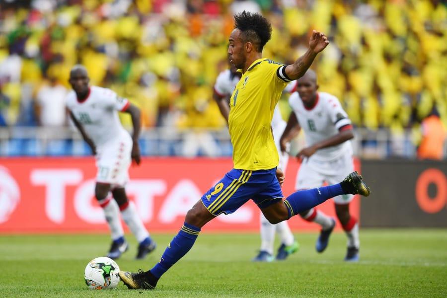 AFCON Aubameyang penalty kick gabon