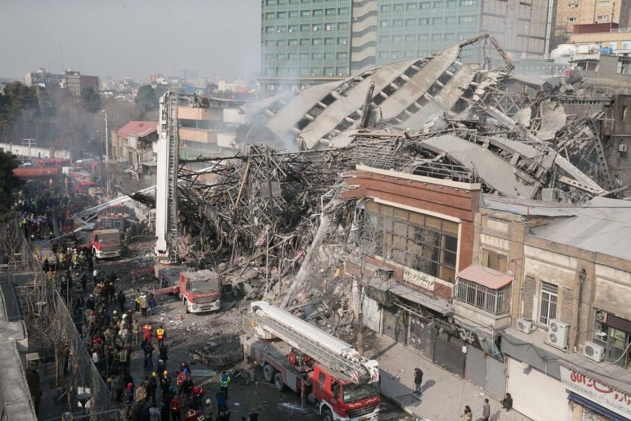 12 Tehran Iran Plasco building fire 0119 RESTRICTED