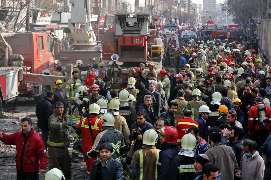 15 Tehran Iran Plasco building fire 0119