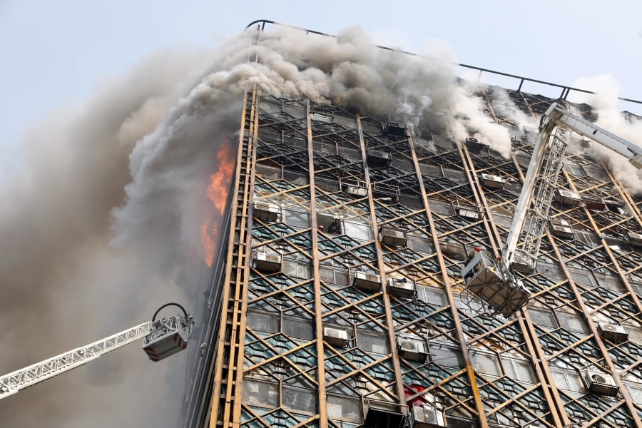 16 Tehran Iran Plasco building fire 0119 RESTRICTED