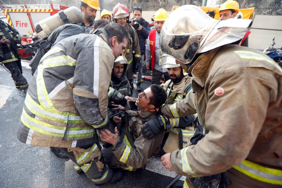 18 Tehran Iran Plasco building fire 0119 RESTRICTED