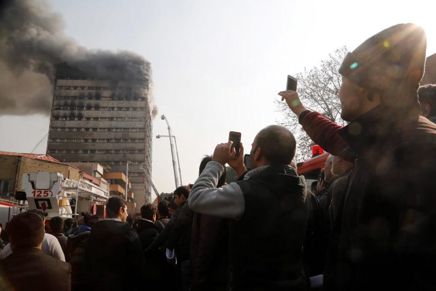 20 Tehran Iran Plasco building fire 0119 RESTRICTED