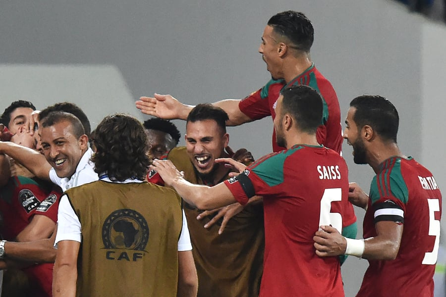 AFCON morocco celebrate