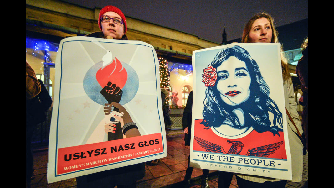 01 womens march poland RESTRICTED