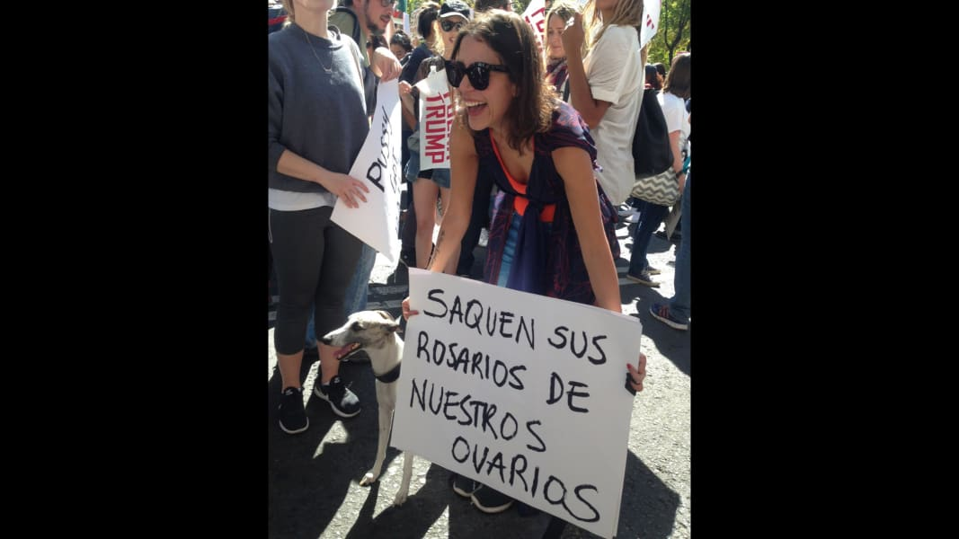 05 Women march in Mexico City 0121