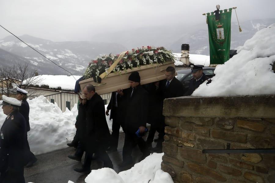 13 italy avalanche 0124 victim funeral Alessandro Giancaterino