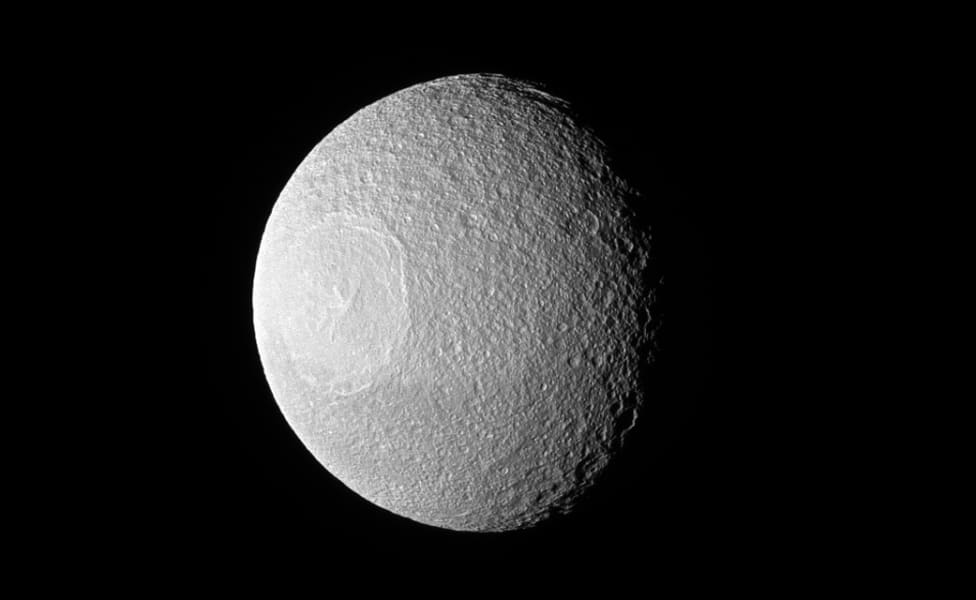 NASA Saturn moon deathstar