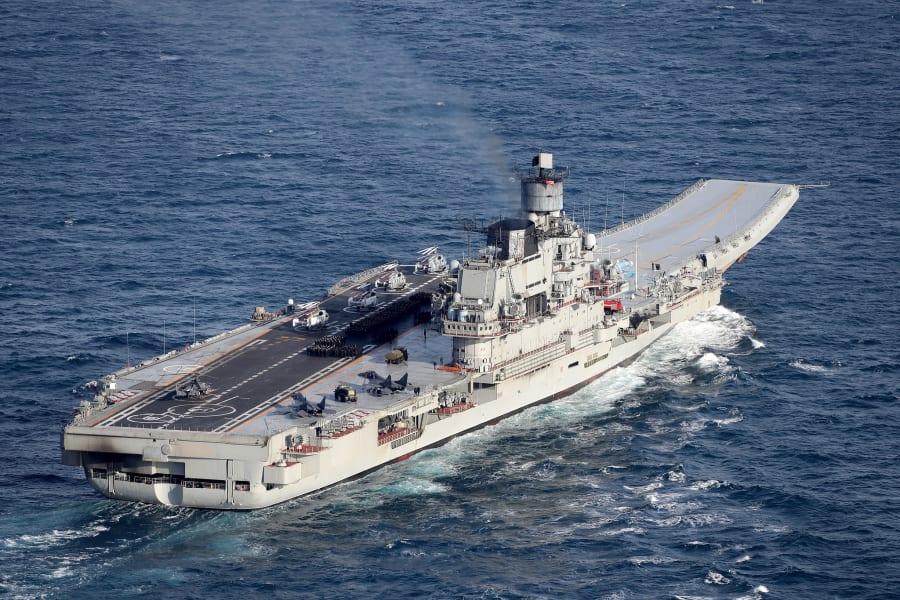 Russian aircraft carrier Admiral Kuznetsov 01 25