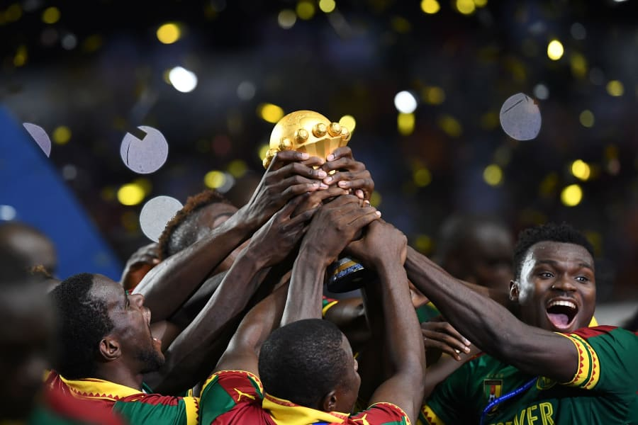 Cameroon win afcon tease trophy