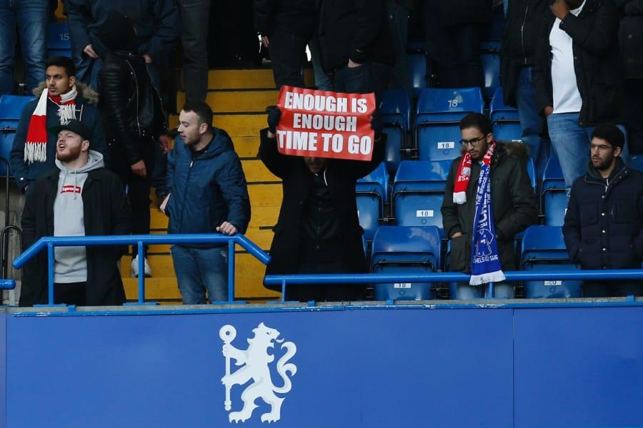 Arsenal fan Wenger banner