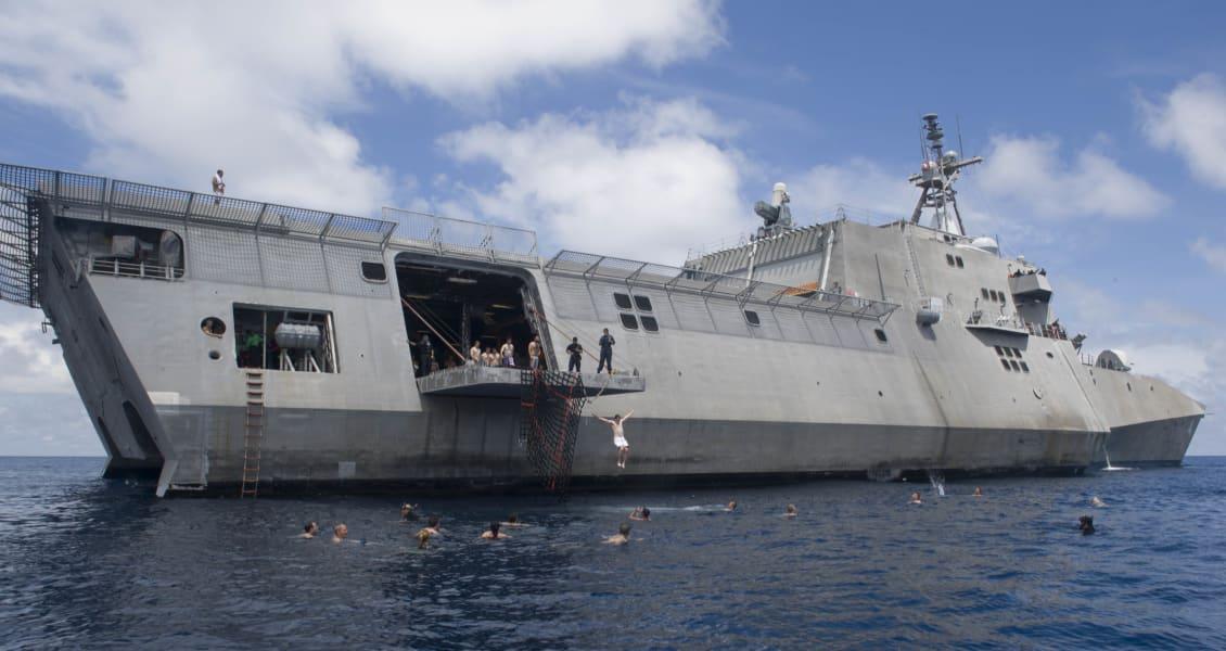 SCS Navy swim