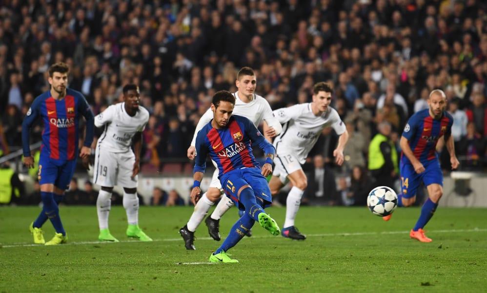 Neymar penalty barcelona psg