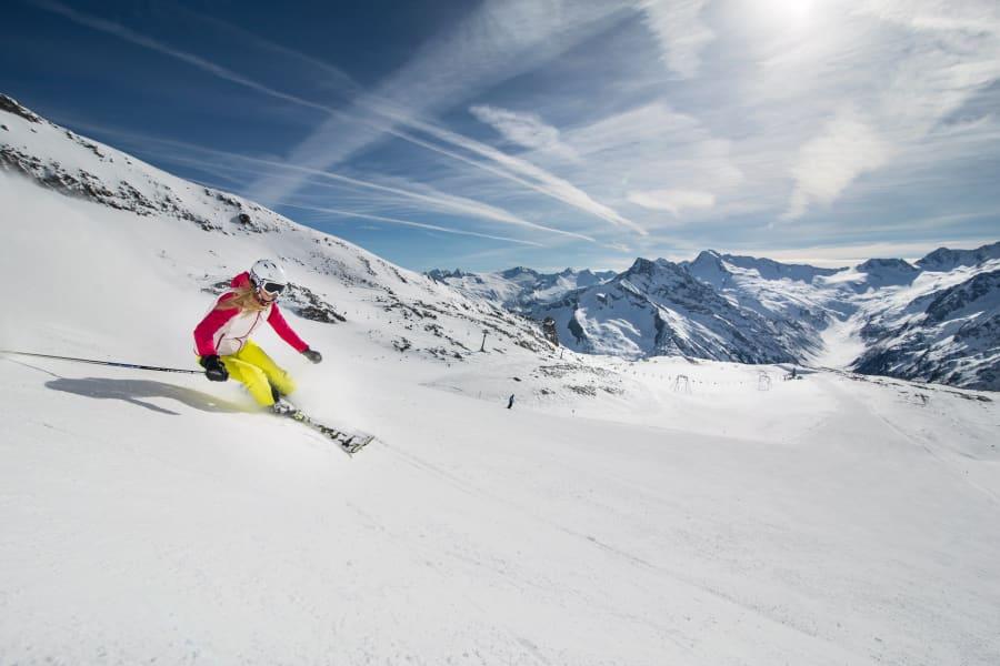 Hintertux glacier summer skiing