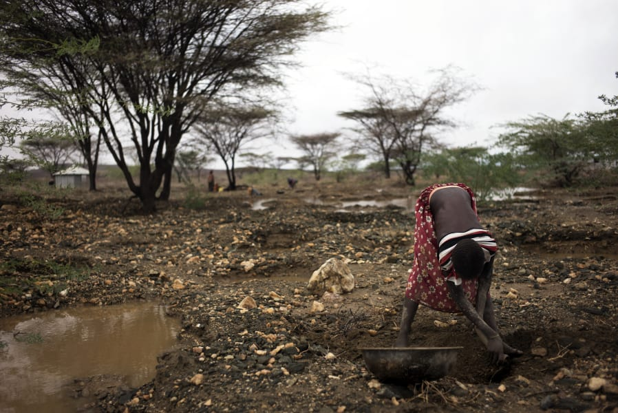 Pastoralist searching for gold drought