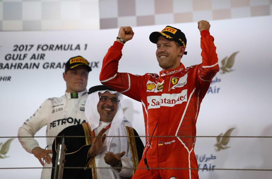 f1 vettel bahrain podium