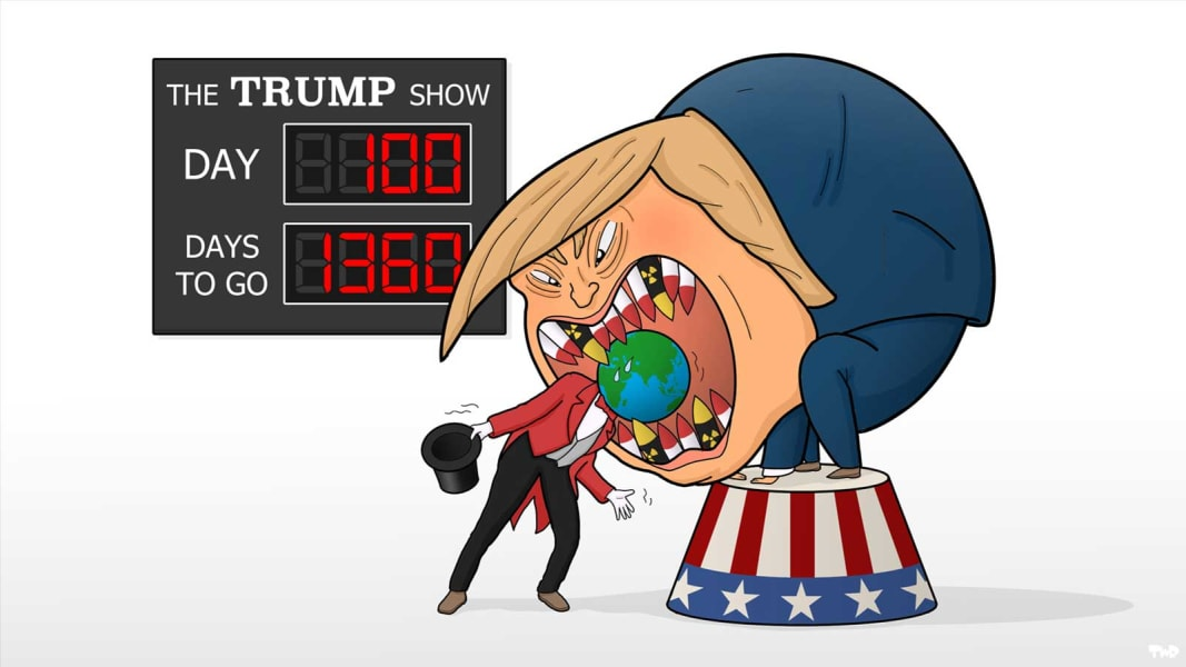 06 100 day trump cartoon