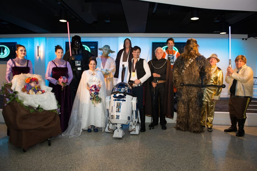 Star Wars Wedding.The Force Is Strong In This Couple