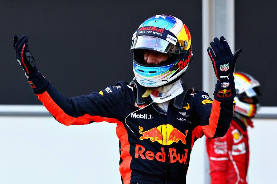 Ricciardo wins