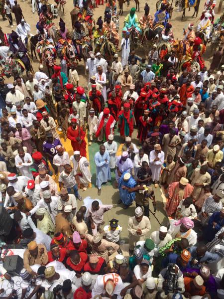 Durbar  Festival crowd