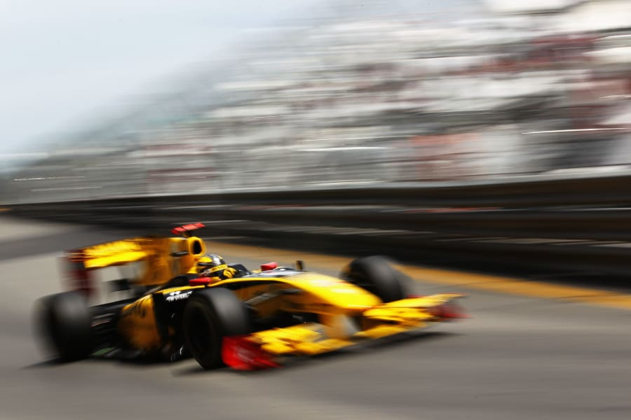 kubica qualifying f1 monaco 2010