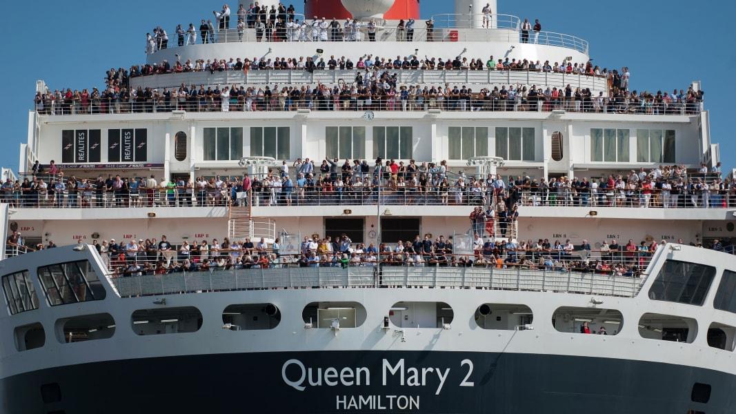 01 transatlantic race Queen Mary trimaran new york
