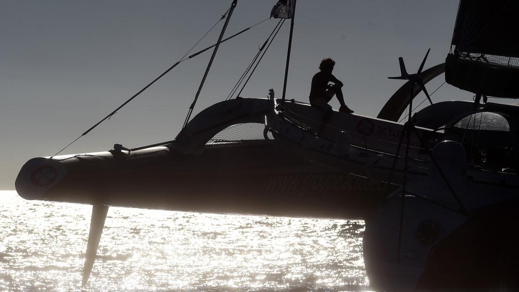 02 transatlantic race Queen Mary trimaran new york