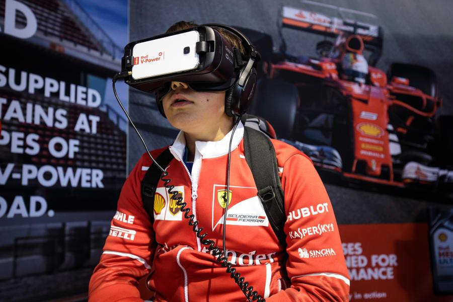 f1 fan silverstone VR
