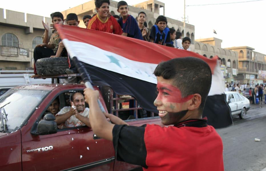Iraq supporters baghdad 2007 football