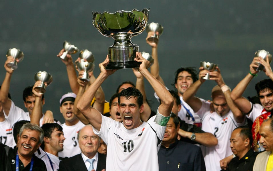 Iraq asian cup trophy 2007