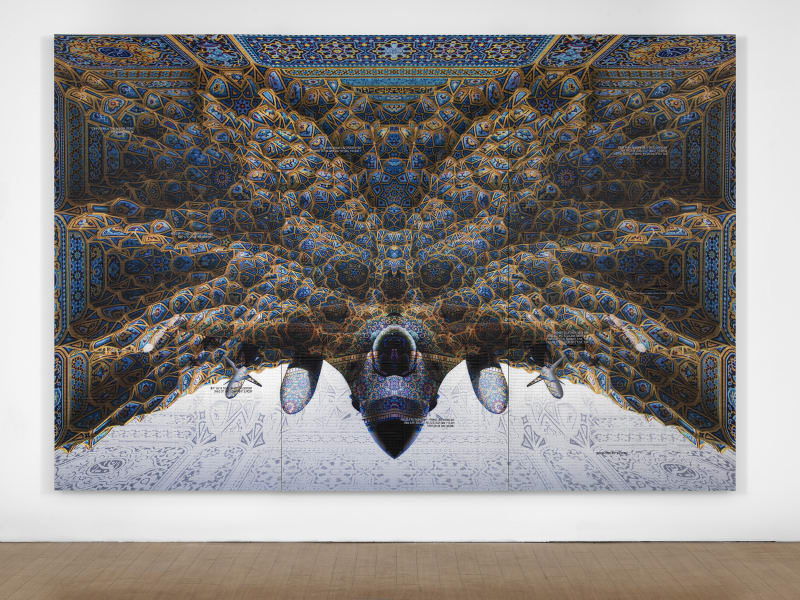 abdulnasser gharem mosque ceiling fighter jet