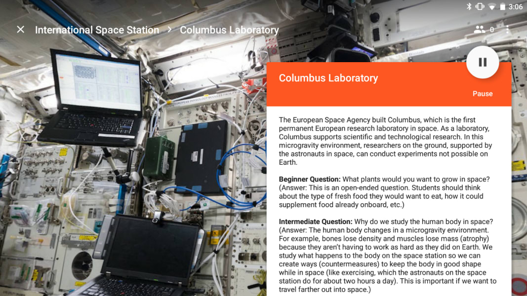 ISS google expeditions